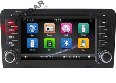 Capacitive Screen Audi Car Dvd Player , Double Din Car Media Player With DVD Speed Reading