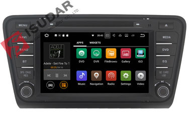 China Iphone & Android Car DVD Player Skoda Octavia Head Unit ARM Cortex A9 Quad Core 1.6GHZ supplier