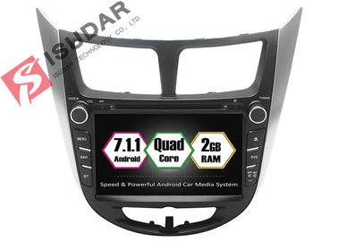 China Rockchip PX3 7 Inch 2 Din Android Car DVD Player For Hyundai Verna / Accent / Solaris supplier
