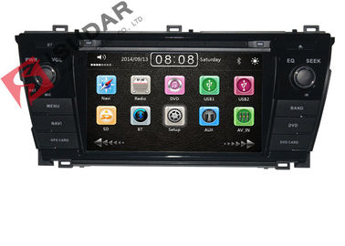 China Left Hand Driving Toyota DVD GPS Navigation For Toyota Corolla 2014 Navigation System supplier