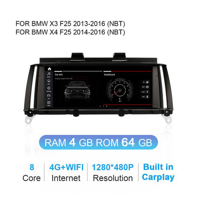 Android 10.0 4G 3G DVD GPS Navigation For BMW X3 F25 X4 F26 CIC NBT
