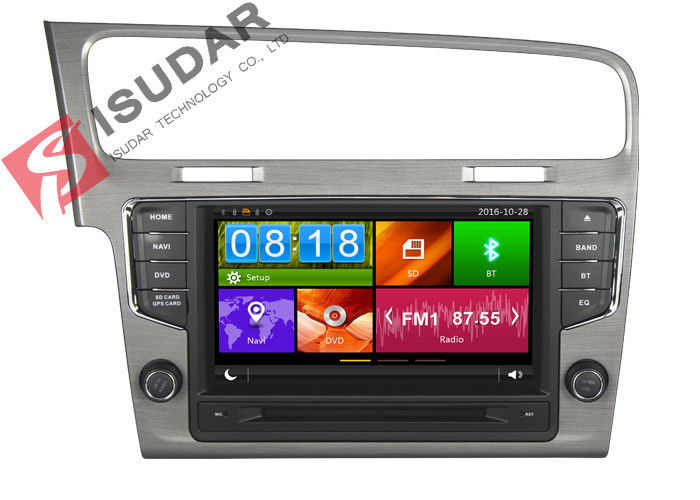Mirror Link VW Golf Dvd Player , Volkswagen Touch Screen Radio Support Steering Wheel Control