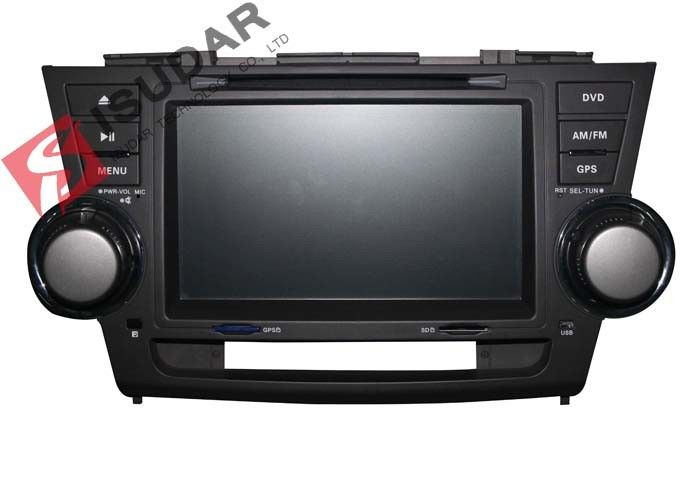 2G RAM Toyota Highlander Dvd Player , 8 Inch Double Din Head Unit Support TPMS