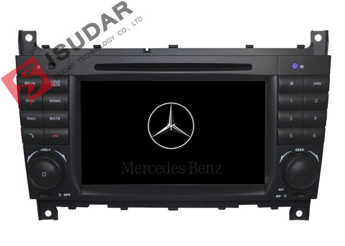 C Class W203 Mercedes Benz Car DVD Player Support Google Maps Online Navigating