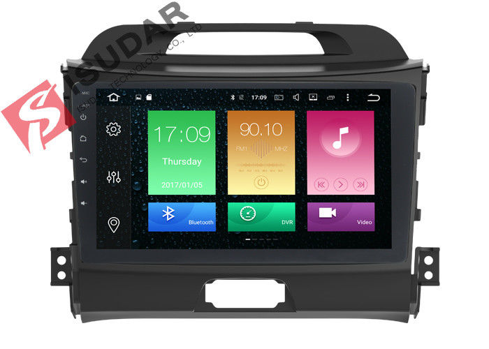 Full RCA Output Kia Sportage Sat Nav System 1 Din Bluetooth Car Radio Heat Dissipation