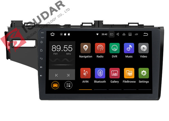 1024*600 Honda FIT Car Stereo Multimedia Player System 10.1 Inch Support TPMS