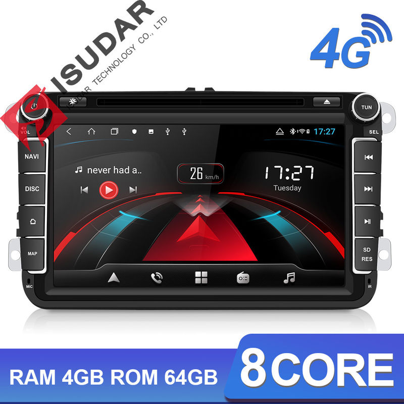 H53 2 Din 4G Camera USB DVR DVD GPS Car Radio Auto Stereo