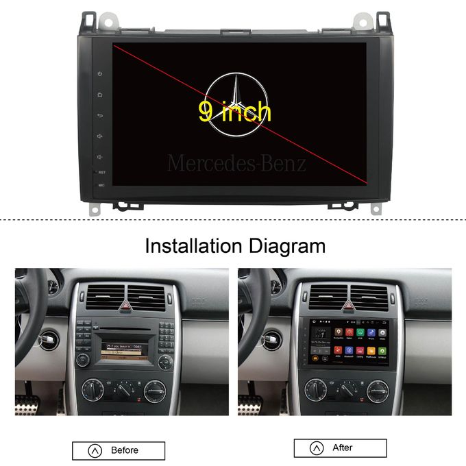 2 Din Mercedes Sprinter Dvd Player , Mercedes A Class Dvd Player Heat Dissipation