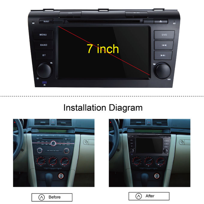 mazda 3 touch screen head unit wifi modem android gps. Black Bedroom Furniture Sets. Home Design Ideas