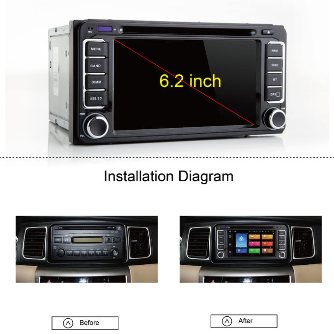 durable android car head unit for toyota corolla gps. Black Bedroom Furniture Sets. Home Design Ideas