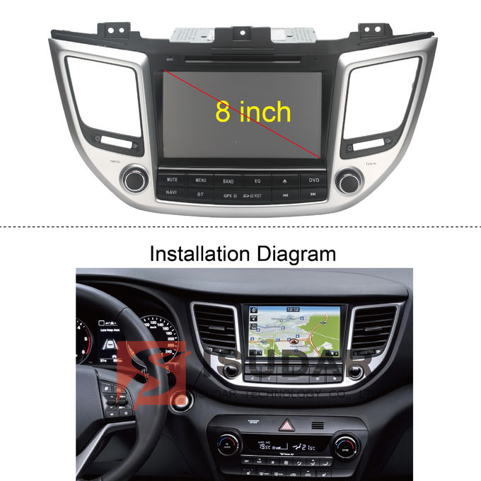 Multi Touch Capacitive 8 Inch Android Car Stereo , 2015 Hyundai Tucson Dvd Player
