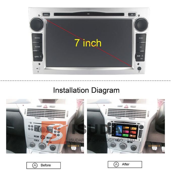 Silver Panel Opel Corsa Dvd Player , Android Bluetooth Car Stereo With Google Maps 0