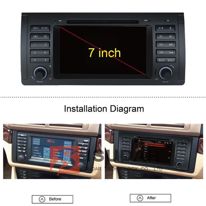 classic front panel bmw e39 sat nav automotive dvd player. Black Bedroom Furniture Sets. Home Design Ideas