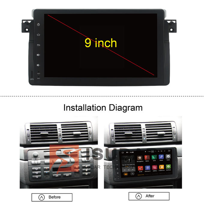 bmw e46 car stereo multimedia player system android 7 1 1. Black Bedroom Furniture Sets. Home Design Ideas