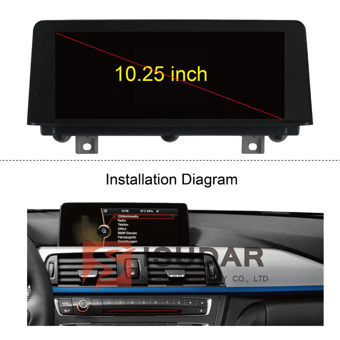 10.25 Inch Touch Screen BMW DVD GPS Navigation Bmw 3 Series Sat Nav With USB