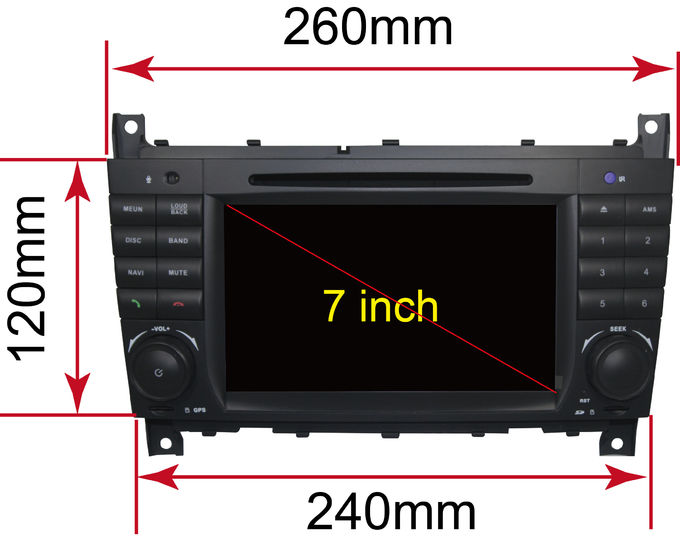 Multi Touch Screen Mercedes C Class Dvd Player , Mercedes Benz Head Unit 4G Function