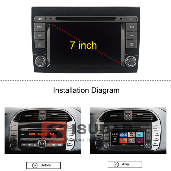 2007 2012 fiat bravo car stereo multimedia player system. Black Bedroom Furniture Sets. Home Design Ideas