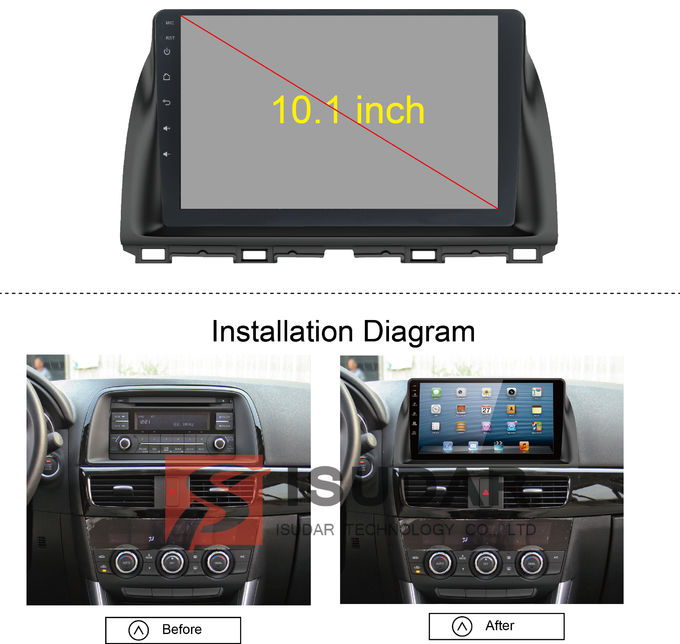 Rockchip PX5 Multimedia Car Dvd Player , Mazda Cx 5 Navigation System With 4G WIFI